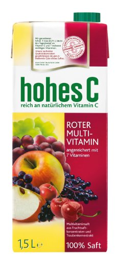 Hohes C Roter Multivitaminsaft - 100% Saft, 8er Pack (8 x 1.5 l)