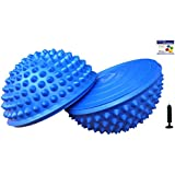 Set of 2 Balance Pods with 1 Pump, Domed Hedgehog Style, Blue