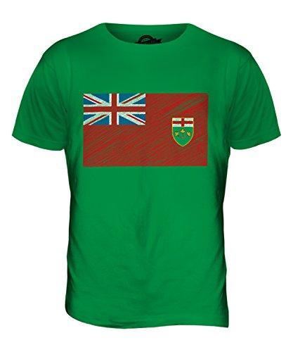 CandyMix Ontario Bandiera Scarabocchio T-Shirt da Uomo Maglietta Verde