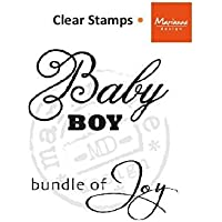 Marianne Design Bambino Bundle of Joy-UK-Timbri trasparenti, colore: nero