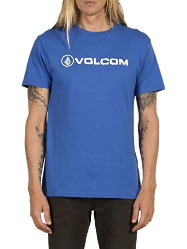 Volcom Herren Oberteile / T-Shirt Line Euro Basic True Blue