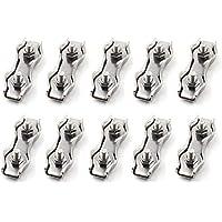 Duplex-Kabelklemme aus Edelstahl, Seil-Clip mit 2 Drahtstiften, M3 (10 Stücke)