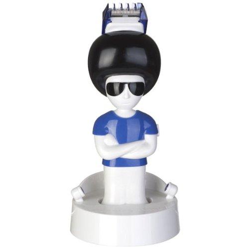 Tondeuse à cheveux Mister Hair 2 sabots interchangeables Blanc noir et bleu ABS et acier inoxydable La chaise longue 32-F2-003
