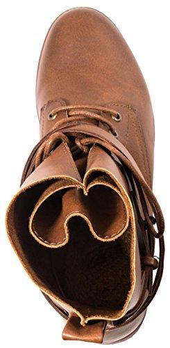 Elara Stivaletto da donna | biker Boots | Trendy effetto pelle | chunkyr ayan Camel Orlando