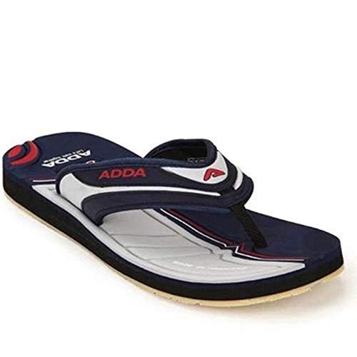 ADDA Men's Comfortable flip Flops Synthetic Slipper Blue -White