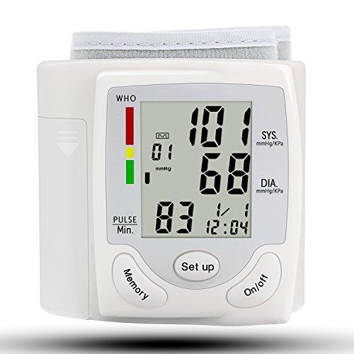 Pulsfrequenz Blutdruck (Oberarm Blutdruckmessgerät Elektronisches Handgelenk-Blutdruckmessgerät mit hoher Genauigkeitsmessung Arrhythmie-Anzeige Leichte Lesbarkeit WHO Ampel-Farbskala)