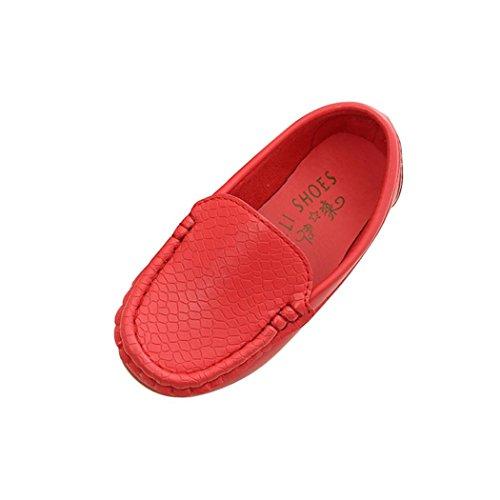 Webla Kinder Schuhe Casual Sneakers Schuhe Jungen Sport Schuhe Sneakers Bootsschuhe (29, Rot)