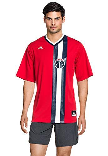 adidas Herren T-Shirt INT Replica Jrsy NBA, rot/blau/weiß, L-54