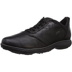 Geox U NEBULA A - zapatilla deportiva de cuero hombre, color negro, talla 43