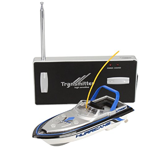 Blue Radio RC Remote Control Super Mini Speed Boat Dual Motor Toy (Speed Control Motor)