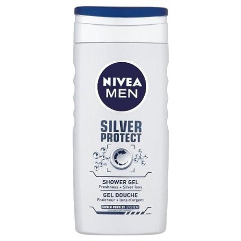 Nivea Men Silver Protect Shower Gel, 250 ml - Pack of 6