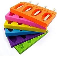 IDEA - Molde ovalado para 4 cubos de cocina, color crema