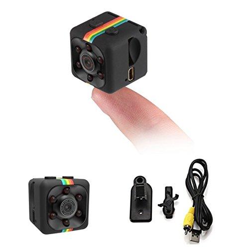 Semoic Kamera Nachtsicht 1080P HD Videorekorder tragbar Sehr klein mit Nachtsicht und Bewegungserkennung ueberwachungskamera Fuer DV Video Recorder, FPV, Zuhause und Buero ueberwachung