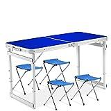 Chaise De Table Pliante Portative En Plein Air Set Table De Camping Table De Barbecues