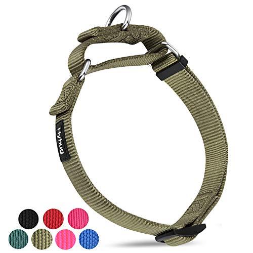 Hundehalsband aus Nylon, strapazierfähig, für große und mittelgroße Hunde mit Hundehalsband, ideal für Spaziergänge, professionelles Training, den täglichen Gebrauch, Small, Military Green - Das Tägliche Training