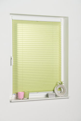 K-home Klemmfix-Plissee Palma Grün 80 x 130 cm (B x L) Lichtschutz +++ Moderne Crushed Optik +++ - 4
