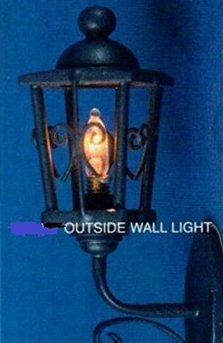 Melody Jane Puppenhaus Schwarz Träger Lampe Außen Wandleuchte Miniatur Elektrische Beleuchtung