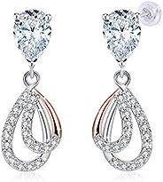 JRosee Swarovski 925 Sterling Silver Crystal Studs Earrings for Women Ladies Girl friend Gift JRosee Jewelry J