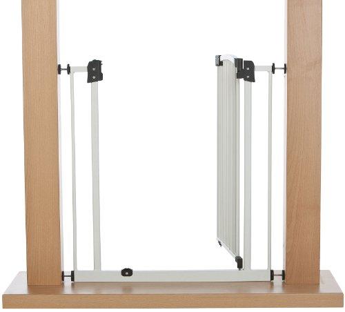 Impag Türschutzgitter Treppenschutzgitter 62 – 222 cm selbstschließend – zum Klemmen – ohne Bohren Swing + 20 Weiß - 4