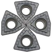 ZIMI 10 piezas WCMT06T308-PM ZM2125 Carburo U insertos de taladro de metal en U indexable CNC apto para WC tipo U taladro