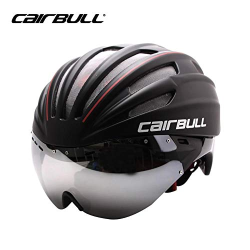 Stageonline cairbull adulto casco bici sicurezz cascos da ciclismo con visiera leggero caschi di mtb insetti-protettivo per regolabile taglia 57-62cm