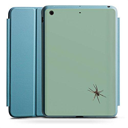 Case Ipad Spider Mini (Apple iPad Mini 2 Smart Case hellblau Hülle Tasche mit Ständer Smart Cover Spinne Insekt Spider)