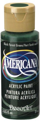 Deco Art americana-colore acrilico multiuso, 59ml, Nero Forest verde