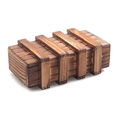 Wooden Magic Puzzle Rätsel Boxen Trick Intelligence Fach Spiele
