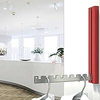 Warteraum Designer Folding Hook, Coat Rack Trento Red–Innovative Folding Mechanism Housing Powder Coated Aluminium