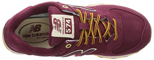 New Balance 574, Baskets Basses Homme Rouge (Red)