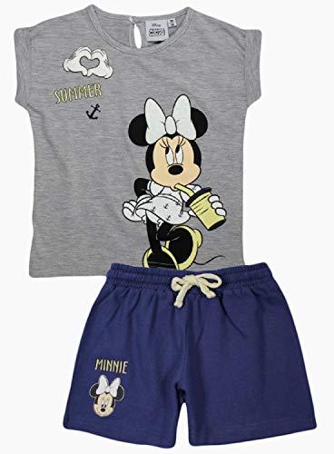 Mädchen Weihnachts-nachthemd (Disney Minnie Mouse Mädchen Sommer Set (4 Jahre, Grau))