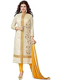KFHub Women's Discount Offer Sale Off Today Deal Designer New Collection Dress In Beige & Yellow Latest Design...
