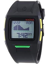 Nixon Lodown II Black Rasta - Reloj de cuarzo para hombre, correa de plástico color negro