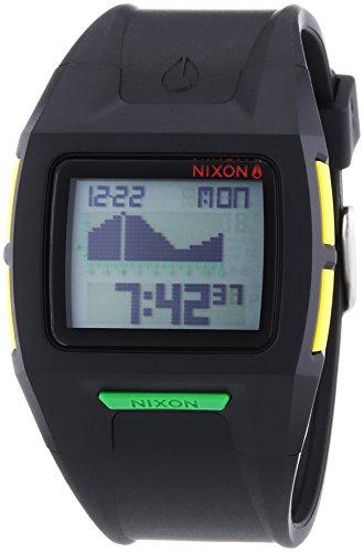 Nixon Herren-Armbanduhr XL Lodown II Black Rasta Digital Quarz Plastik A2891329-00 (Surf-uhr-digital)