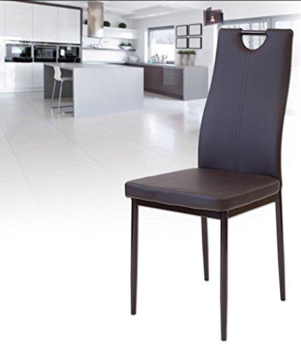 albatros 2917 salerno esszimmerst hle 6 er set braun. Black Bedroom Furniture Sets. Home Design Ideas