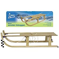White Out - 110cm Wooden Toboggan / Sleigh / Sledge by Howleys Toys