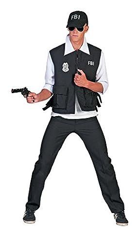 FBI Agent Kostüm Polizist für Herren Gr. 48 50 (Fbi-kostüm Für Jungen)