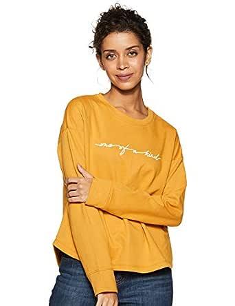 Amazon Brand - Symbol Women's Cotton Sweatshirt (AW18WNSSW45_Camel_X-Small)