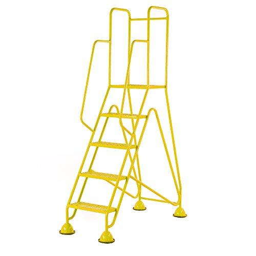 Praktische Panda wm515_ Gelb Fort Kuppel Füße 5Schritt mit Full Handlauf in Mesh reifenprofile, gelb