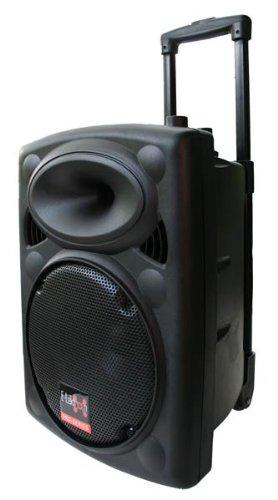 E-Lektron EL25-M 500W mobile PA Sound Anlage Akku-MP3-USB-SD inkl. Funkmikrofone Soundsystem