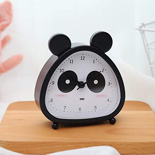 O-Kinee Kinderwecker, Analoger Wecker, Panda Mini Kein Tickendes Wecker Mit Lautem Alarm, Nachtlicht, Snooze, Batteriebetriebene Weckuhr