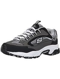skechers men's stamina cutback low top sneaker shoes