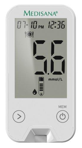 Medisana MediTouch 2 Blutzuckermessgerät mmol/L 79034, inklusive Starterset, Blutzuckermesssystem für Diabetiker, Messung des Blutzuckerspiegels bei Diabetes