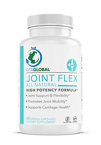 VITAGLOBAL Joint Flex All Natural | High Potency Formula | Joint Support and Flexibility | Promotes Joint Stability | Supports Cartilage Health | Dietary Supplement and Vitamin 60 Capsules -