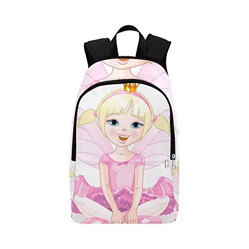 Nettes kleines Mädchen mit Schmetterlingsflügeln beiläufiger Daypack Reisetasche College School Rucksack für Männer und ()
