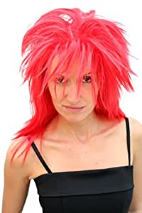 Party/Fancy Dress/Halloween WILD WIG HAIR METAL 80s goth glam punk rock wave puckish RED lm-418-KIIC12 Cosplay