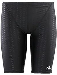 5c9d0cbca1b970 Panegy Herren Badehose Lang Polyester Unifarben Hälfte Schwimmhose  Imitation Fischschuppenmuster Badehosen Shorts - Größe…