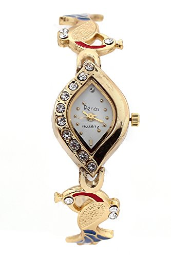 Rise N Shine Analogue Gold Dial Girl\'S And Women\'S Watch-Rnswt091