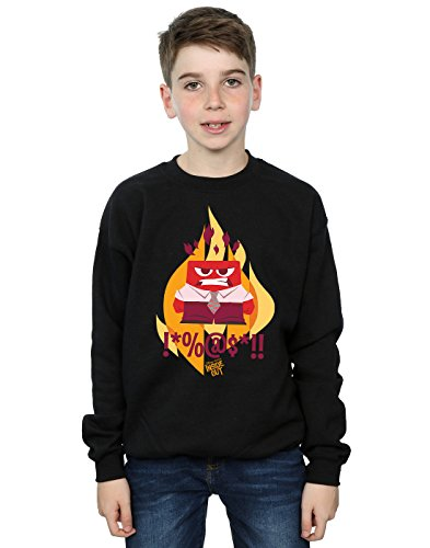 Disney Jungen Inside Out Fired Up Sweatshirt 9-11 Years (Pullover Up Disney)