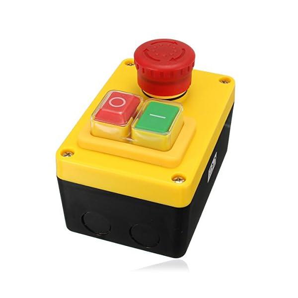 KingLan 230V 19A Nvr Motor Stop Start Und Not-Halt-Schalter 5 Pins Für Drehmaschine Fräsbohrer